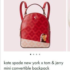 NWT Kate ♠️ Tom & Jerry Mini Convertible Backpack
